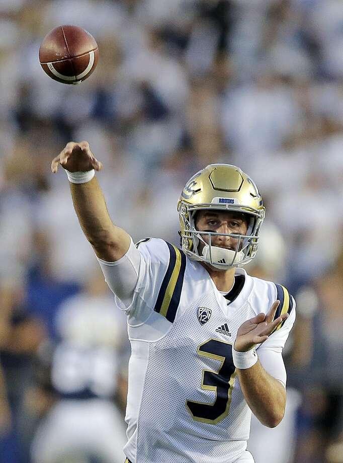 UCLA quarterback Josh Rosen is thought to be a future No. 1 NFL draft pick. Photo: Rick Bowmer, Associated Press