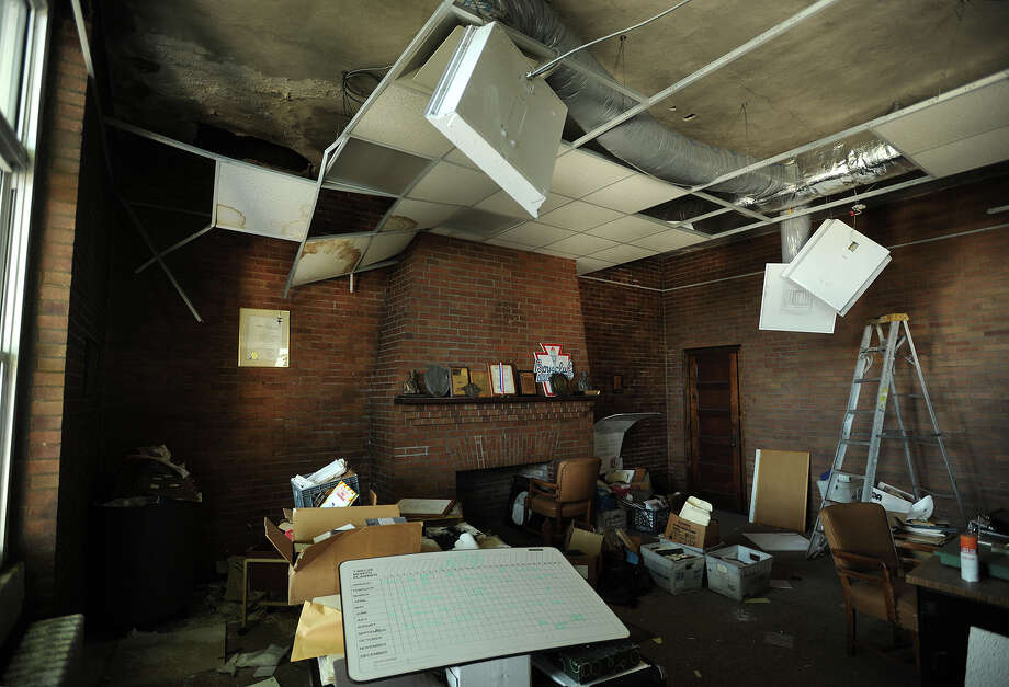 Damage shows in a second-floor room at the Orcutt Boys and Girls Club at 102 Park St. in Bridgeport on Thursday. Photo: Brian A. Pounds / Hearst Connecticut Media / Connecticut Post