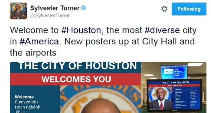 In July 2016, Mayor Sylvester Turner of Houston posted this tweet proclaiming Houston No. 1 in diversity in the U.S.