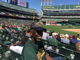 Woody Harbin, 68, of Oakland, was part of a sparse crowd enjoying an afternoon Oakland A's game at The Coliseum in August of 2016. The team's future residence remains in doubt.