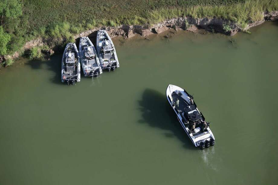Texas State Troopers patrol the Rio Grande at the U.S.-Mexico border on August 18 near McAllen, Texas. Securing the U.S.-Mexico border has become a major issue in the U.S. Presidential campaign, which is strange since Mexican migration to the U.S. is at net zero. Photo: John Moore /Getty Images / 2016 Getty Images