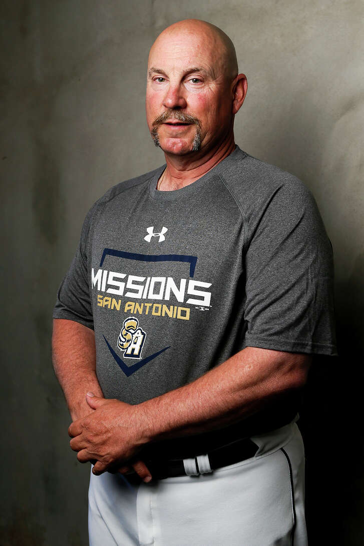San Antonio Missions' manager Phillip Wellman poses during the opening day of practice for the Missions at Wolff Stadium on April 5, 2016.