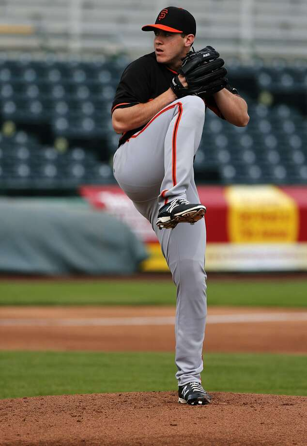 """Ty Blach added a """"spike"""" curveball this season, making him a better pitcher for Triple-A Sacramento. Photo: Michael Macor, The Chronicle"""