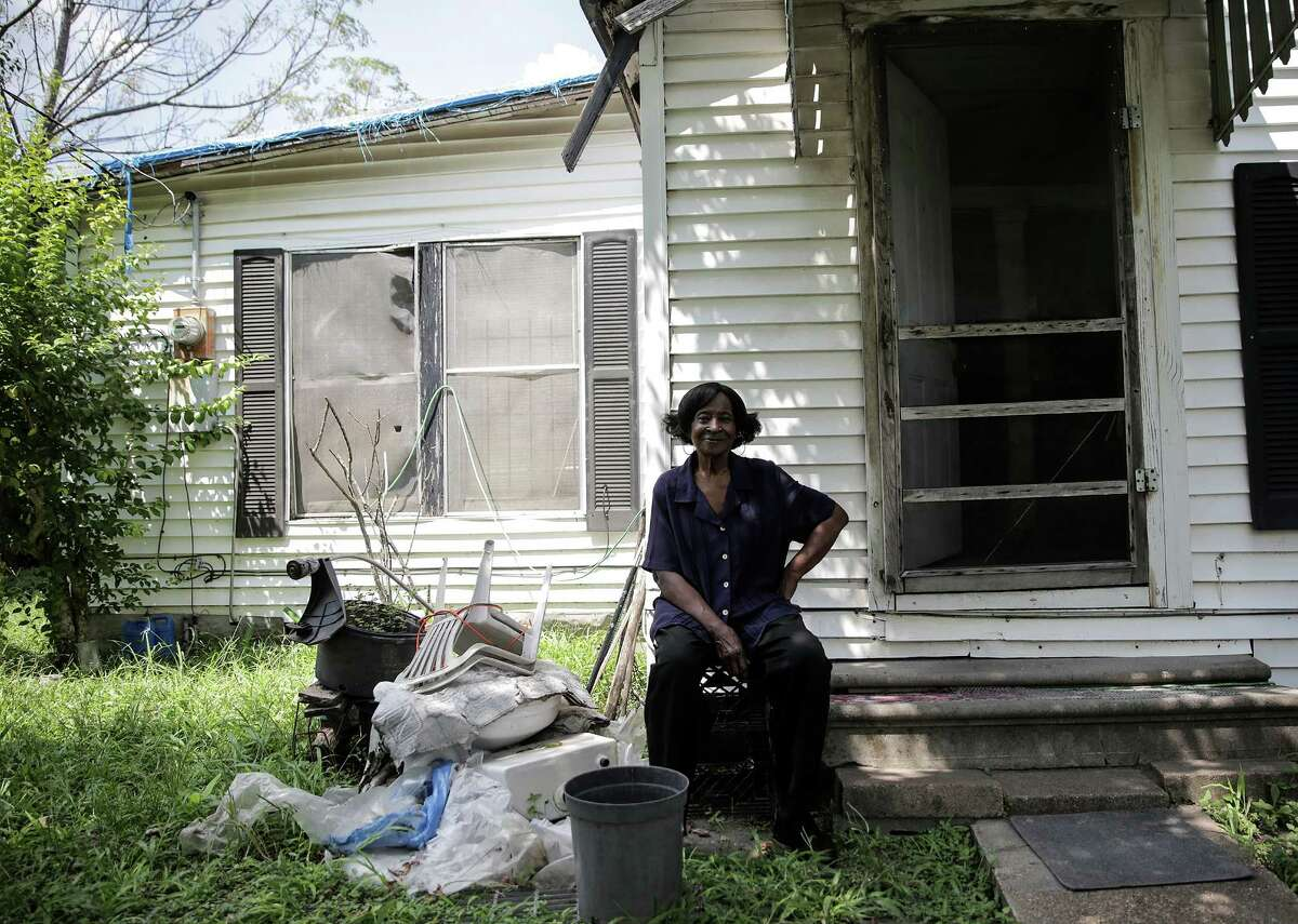 Sammy Wiley, in her Sunnyside neighborhood home that has storm damaged and is indicative of the type of neglect that the neighborhood has experience for decades. Photographed on Thursday, Sept. 1, 2016, in Houston. ( Elizabeth Conley / Houston Chronicle )
