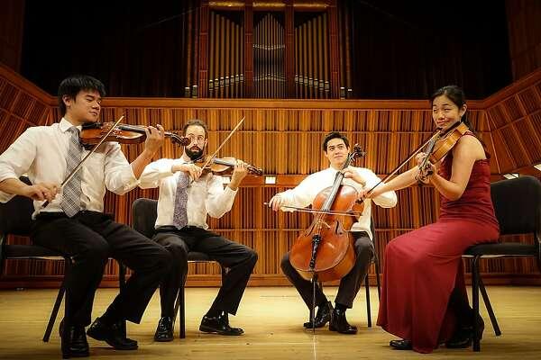 Telegraph Quartet: Violinists Joseph Chin (l.) and Eric Maile, cellist Jeremiah Shaw, violist Pei-Ling Lin