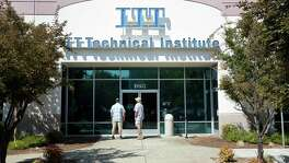 Students find the doors to the ITT Technical Institute campus in Rancho Cordova, Calif., closed earlier this month. The website NextStepsEdu.org offers students free counseling.