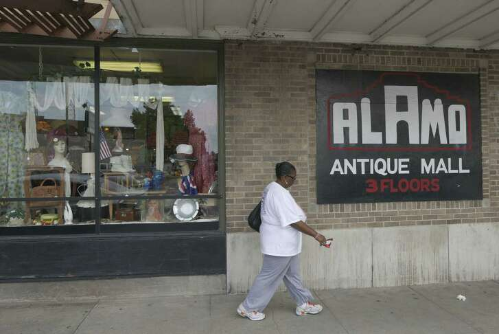 Alamo Antique Mall, located at 125 Broadway, has three levels filled with antique jewelry, trench art, coins, records, glassware, records and many other items.