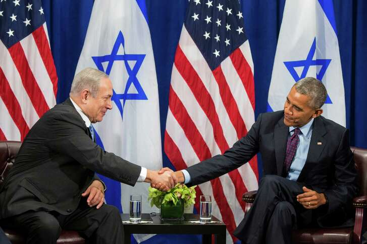 President Barack Obama and Israeli Prime Minister Benjamin Netanyahu were cordial Wednesday, but their private talks likely covered disputes.  (Al Drago/The New York Times)