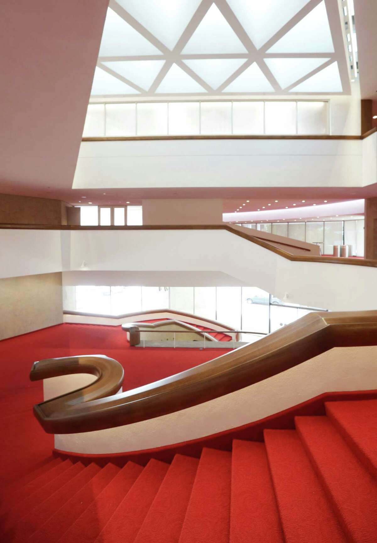 The newly renovated Alley Theatre is seen Wednesday, Sept. 16, 2015, in Houston. The Alley Theatre will complete its first major renovation since its opening in 1968. ( Jon Shapley / Houston Chronicle )