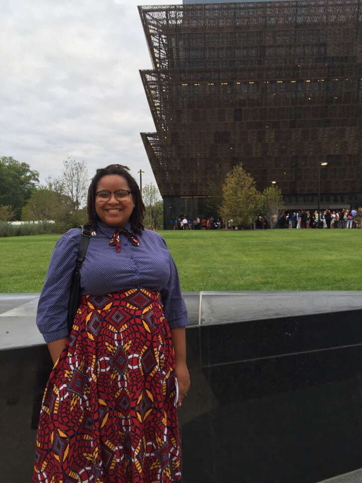 LaStarsha McGarity, a Texas Southern University art history graduate, worked as an intern conservator at the National Museum of African American History and Culture in the year before its opening in September 2016. She helped get Chuck Berry's red Cadillac, James Brown's organ and the glittery dresses worn by the 1990s R& girl group En Vogue ready for display. The 26-year-old was inspired to shift her studies at TSU to art history and chemistry in 2010 after then-President John Rudley painted over works by Harvey Johnson, a student of renown TSU professor and muralist John Biggers, that he called eyesores. Born and raised in San Antonio, McGarity was mentored by Alvia Wardlaw – the TSU University Museum's director and one of the nation's foremost experts on African American art who served on the national museum's scholarly advisory committee for the last decade. In fall 2016, McGarity started a master's degree program in art conservation at Buffalo State University in New York. President Barack Obama will headline the national museum's official grand opening on Saturday, Sept. 24, 2016 on the National Mall and there's a livestreamed watch party at the Houston Museum of African American Culture on Caroline. GEORGE. w/PHOTOS of McGarity working on artifacts, outside the museum and with Wardlaw.