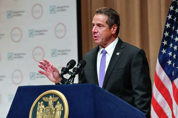 Gov. Andrew M. Cuomo speaks during an announcement at the  Albright- Knox Art Gallery on Friday Sept. 23, 2016, in Buffalo, N.Y. (Office of the Governor)