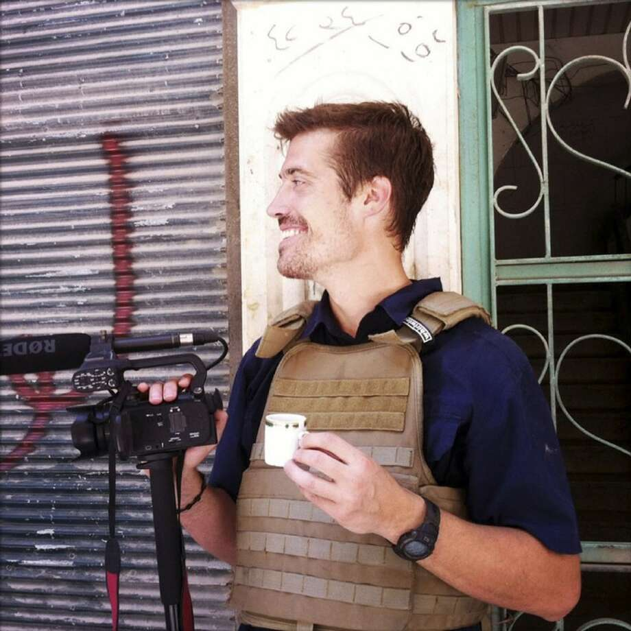 This photo posted on the website freejamesfoley.org shows journalist James Foley in Aleppo, Syria, in July of 2012. The family of an American journalist says he went missing in Syria more than one month ago while covering the civil war there. Photo: Nicole Tung
