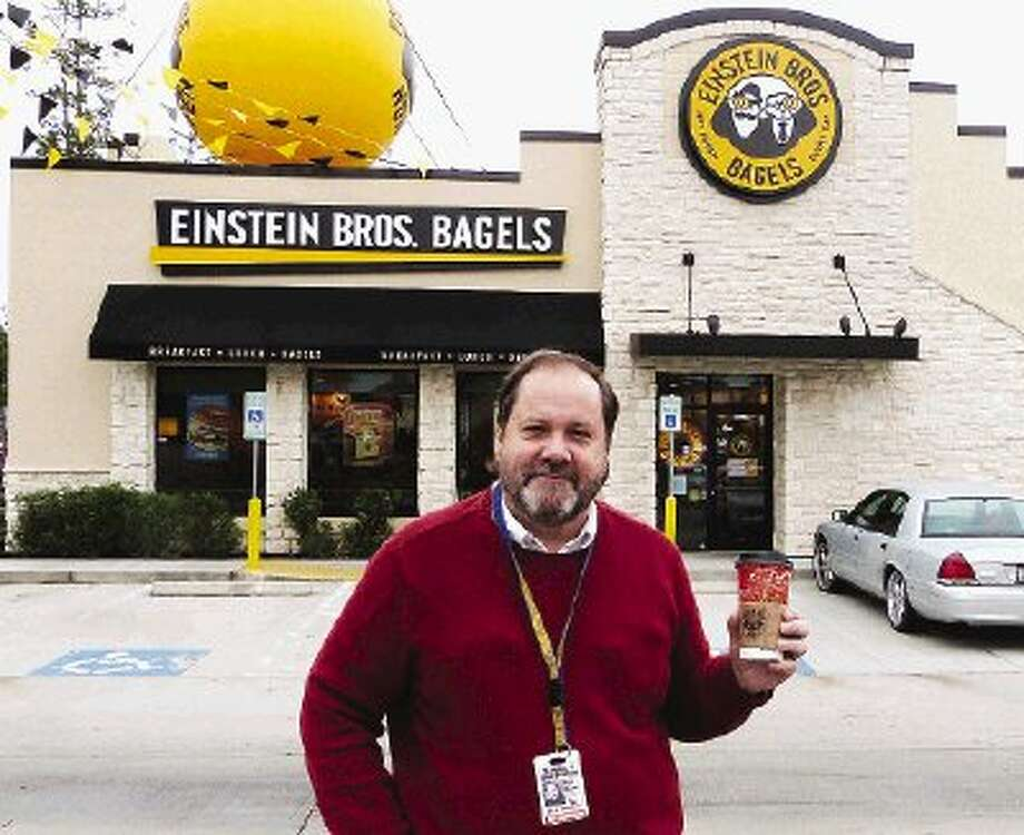 The Whine & Dine team of Brad Meyer and Mark Hayter checked out the new Einstein Bros. Bagels in Conroe. A second Montgomery County location is at 3375 College Park Drive, The Woodlands.