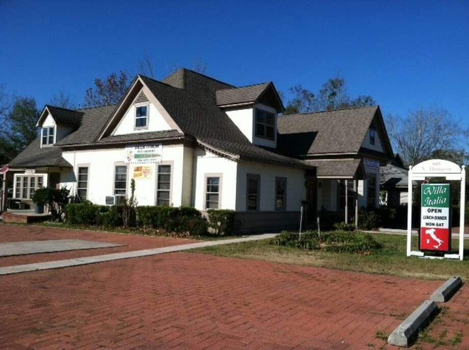 Jose's Villa Italia at 603 N. Thompson Street in downtown Conroe. The restaurant is housed in one of the oldest residences in Conroe, the Laura Grogan Cochran home which was constructed around 1918.