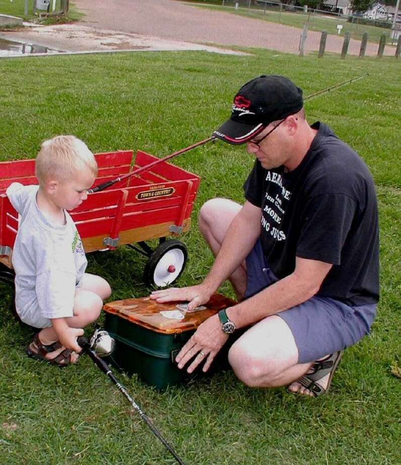 The father that teaches his son to fish when he is young will creates wonderful memories for both.