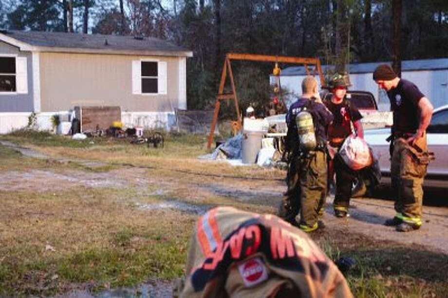 A Sunday afternoon fire damaged a mobile home in New Caney. The owners were not home at the time of the blaze.