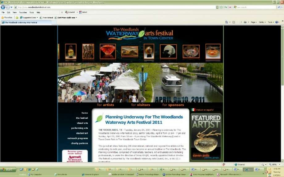 The Woodlands Waterway Arts Festival has a new website in the new year.