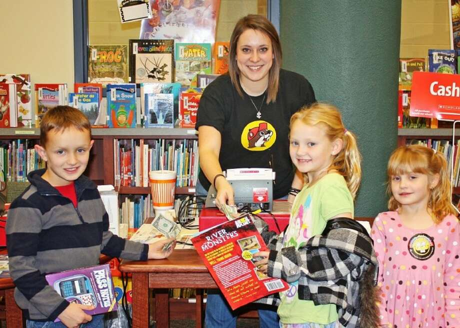 Austin Elementary students were excited to buy new books at the school's Book Fair. Photo: Courtesy Photo