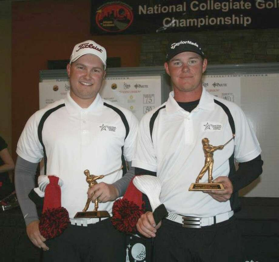 Brian Nutt and Scott Straubel, students at Lone Star College -Montgomery, won last month's National Collegiate Golf Cham-pionship last month.