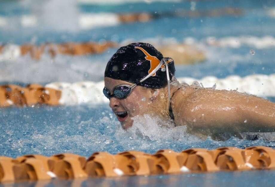 A three-time NCAA All-American, The Woodlands High School graduate Kelsey Amundsen helped the University of Texas swim team defeat No. 1-ranked Georgia last weekend.