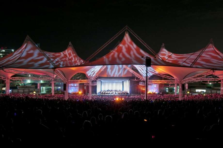 The Cynthia Woods Mitchell Pavilion in The Woodlands ranked fifth in a listing of the top 100 amphitheaters in the world based on the number of tickets sold in 2011.