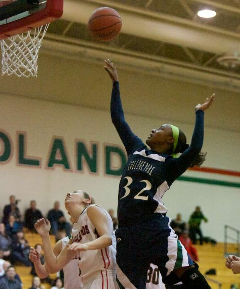 College Park senior Alexia Sanders led the Lady Cavaliers in points (20.1), rebounds (7), blocks (1) assists (2.7) and steals per game (4.1), and field goal percentage (49.2). She also set program records for points in a season and career. Photo: Staff Photo By Eric Swist