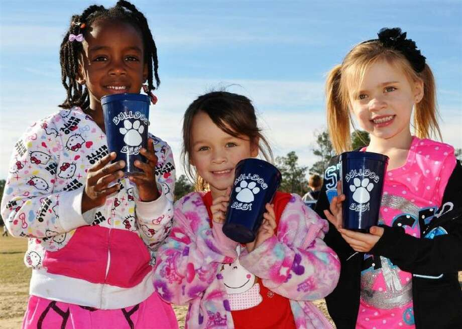 """Birnham Woods Elementary students received a popcorn party for doing their """"Bulldog Best."""""""