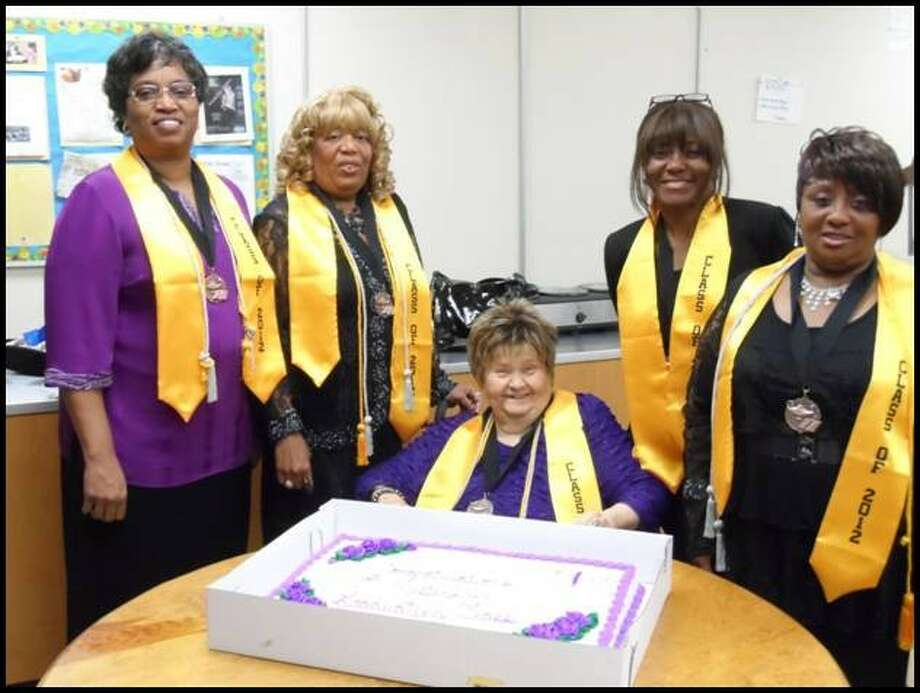 Master Life, an in-depth Bible study class authored by Avery T. Willis Jr. and Kay Moore, had a graduating class at West Tabernacle Church in Conroe recently. The class takes about seven months to complete and here the graduates admire a cake celebrating their completion of the course. Pictured from left to right are Minister Bundage, Sis. Bass, Sis. Halekakis, Minister Legard and Sis. Williams. The next Master Life class starts on Saturday. The church is at 1900 W. FM 2854 in Conroe. Call 936-441-8688 or visit westtab.org for more.