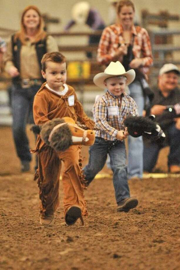 Very few spots - only three for Friday, April 5 - remain in the Montgomery County Fair and Rodeo youth Stick Horse Racing event. Sign-up is at the fair office.