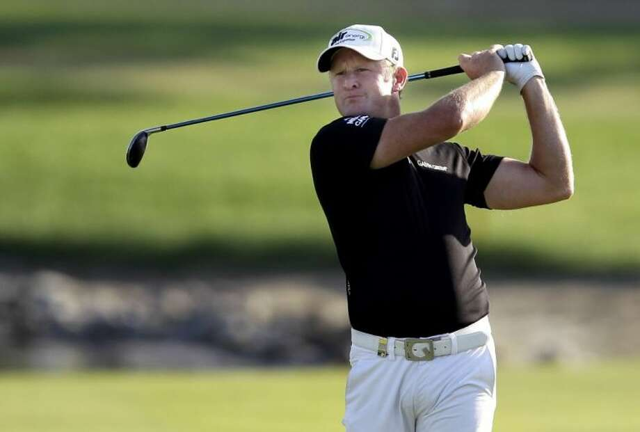 Jamie Donaldson won the Abu Dhabi Championship by a ingle shot over Justin Rose. Photo: Kamran Jebreili