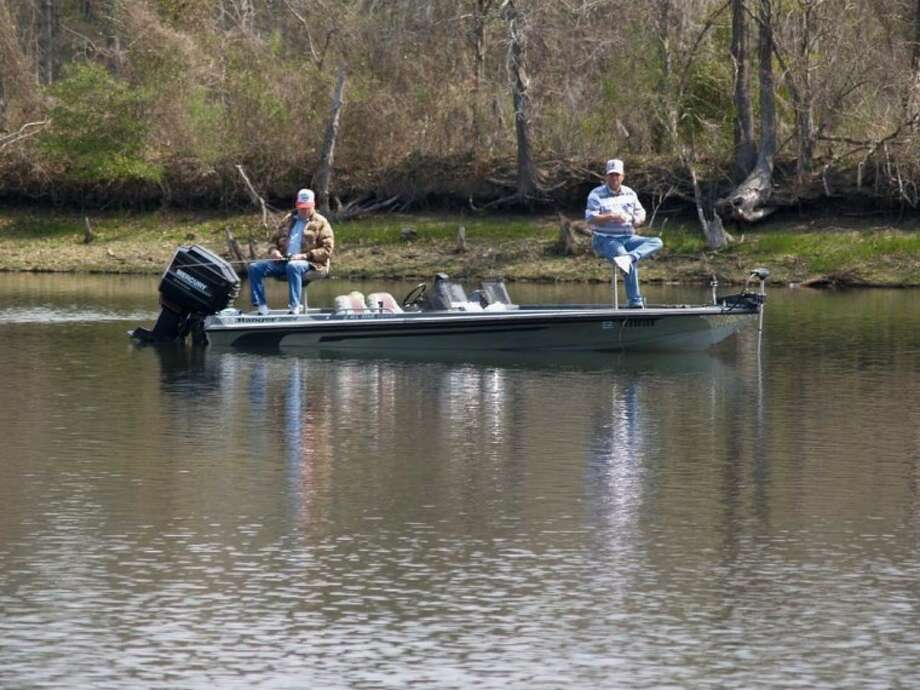 The water on Lake Conroe is low, but there is still plenty of fish and plenty of water in which to fish.