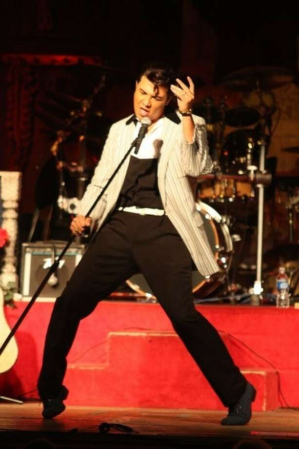 "Vince King will perform as Elvis Presley during the Montgomery County Fair Association's fifth annual ""Elvis and the Legends Show"" beginning at 5:30 p.m. Saturday at the Fairgrounds, exhibit building #2, located at 9201 Airport Road. Photo: Submitted Photo"