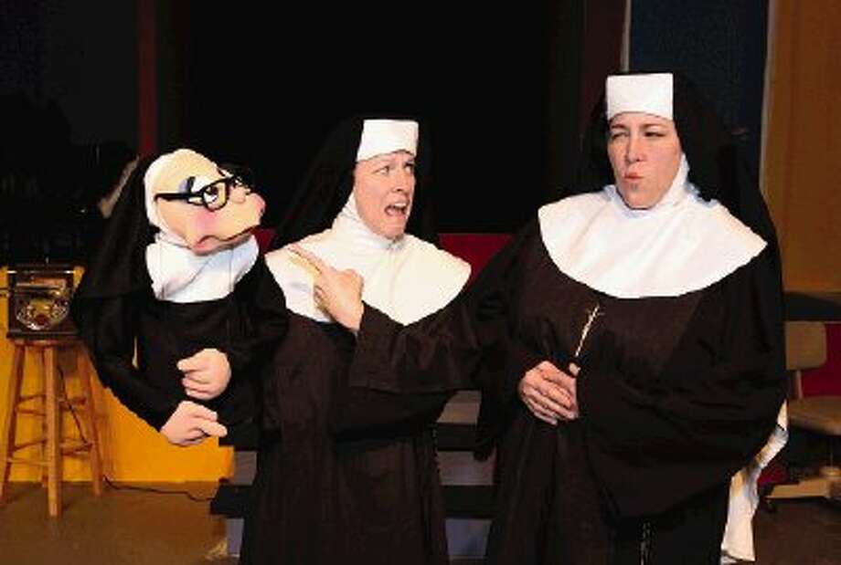"From left, Sister Mary Annette, Sister Mary Amnesia (Sherry Rozas) and Rev. Mother Mary Regina, (Brandi Baldwin) perform in the Crighton Players' ""Nunsense"" which opens tonight at the Owen Theatre."