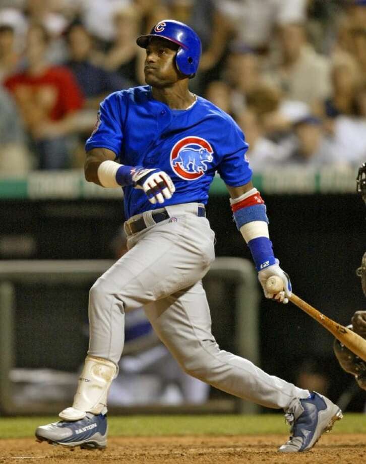 Sammy Sosa finished his career with 609 home runs. Photo: Jack Dempsey