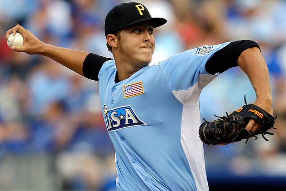 The Woodlands High School graduate Jameson Taillon is one of the Pittsburgh Pirates' top minor league prospects. / AP2012