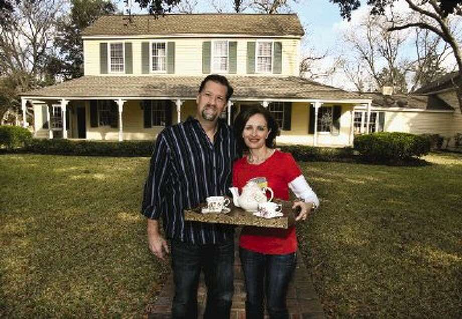 John Baxendale and Nicola Weems are the owners of the new Hodge Podge Lodge bed & breakfast and event facility in Montgomery.