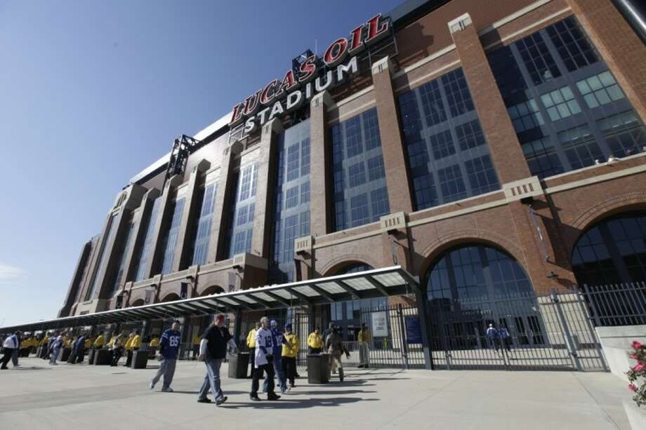 In this Sunday, Nov. 6, 2011 photo, Lucas Oil Stadium is seen during the first half between the Indianapolis Colts and the Atlanta Falcons in Indianapolis. Photo: AJ Mast
