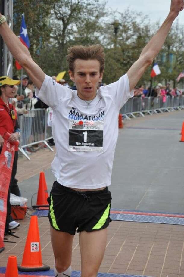 Jeffrey Eggleston of Flagstaff, Ariz., won last year's The Woodlands Marathon. He will return to compete in this year's St. Luke's The Woodlands Half Marathon.
