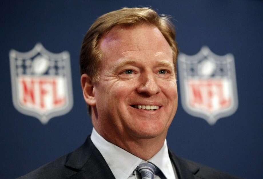 NFL Commissioner Roger Goodell smiles during a new conference after an NFL owners' meeting Dec. 14, 2011, in Irving. Photo: LM Otero