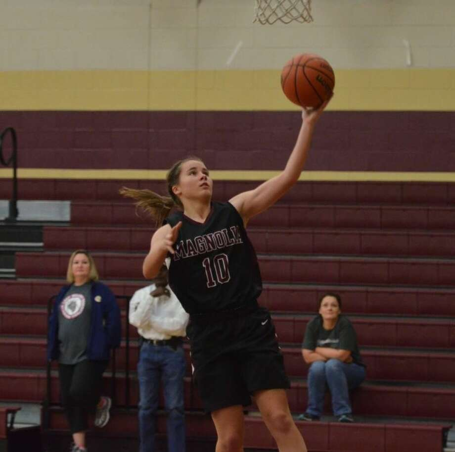 Magnolia senior Allison Abendschein leads the Lady Bulldogs into Friday night's game against Willis.