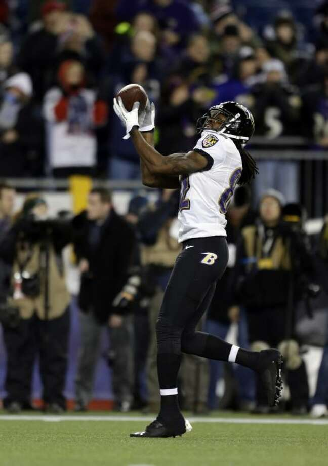 Baltimore Ravens receiver Torrey Smith has become a valuable weapon in his team's offense. Photo: Steven Senne