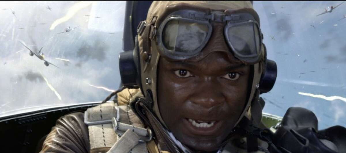 """In this image released by 20th Century Fox, David Oyelowo portrays Joe """"Lightning"""" Little in a scene from the film, """"Red Tails."""""""