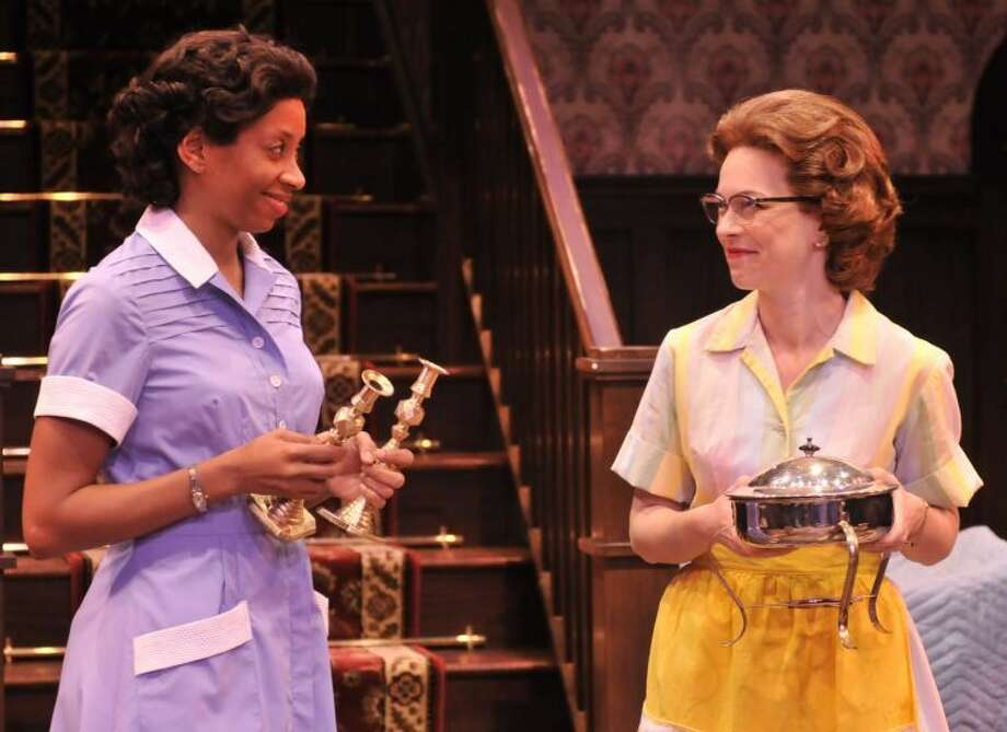 Left to right, Libya V. Pugh as Francine and Elizabeth Bunch as Bev in the Alley Theatre's production of Clybourne Park. Clybourne Park runs on the Alley's Neuhaus Stage January 18 - February 17, 2013. For more information visit www.alleytheatre.org. Photo: Photo By Jann Whaley