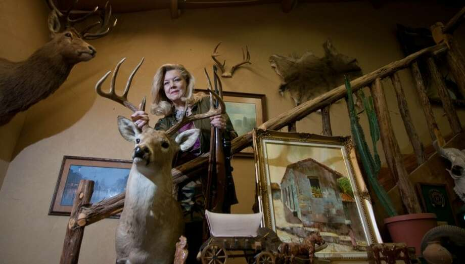 Garlaine Kelly is an avid hunter and owner of a Conroe interior design company. She is part of a group of Houston-area ladies, called the Doe Sisterhood, who get together for hunting excursions.