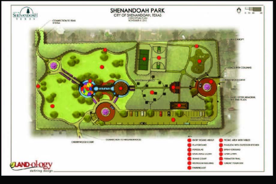 The city of Shenandoah may be moving forward with proposed improvements to its city park in the coming month. Some of the proposed enhancements to the park include a new parking lot and entryway, a new restroom building, a new pavilion and new pathways and plantings among other improvements.
