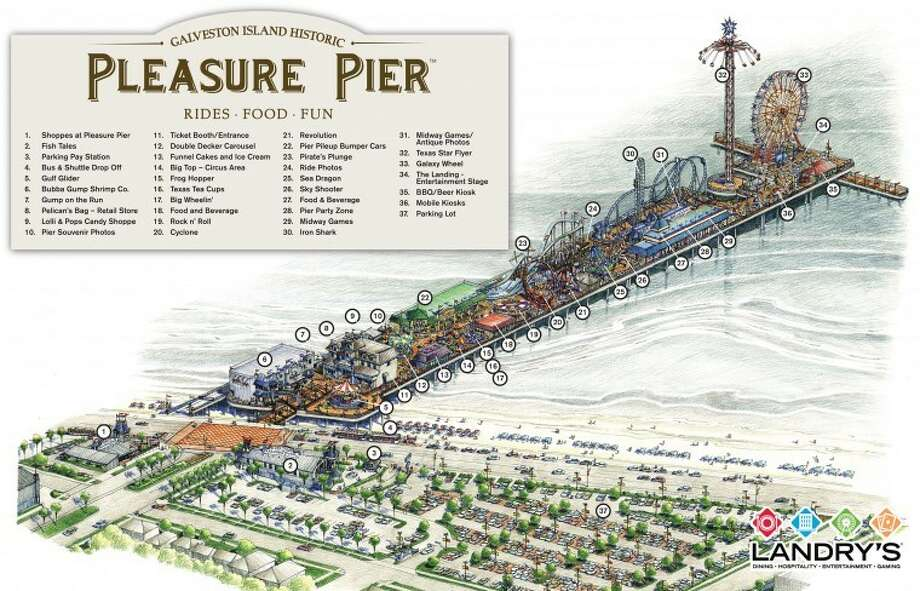 Today Tillman Fertitta and Landry's announced plans for the historic Pleasure Pier in Galveston. It's slated to open in May.