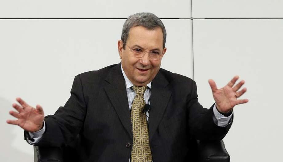 Israeli Defense Minister Ehud Barak gestures during a meeting at the Security Conference in Munich, southern Germany, on Sunday, Feb. 3, 2013. The 49th Munich Security Conference started Friday until Sunday with experts from 90 delegations. Photo: Matthias Schrader