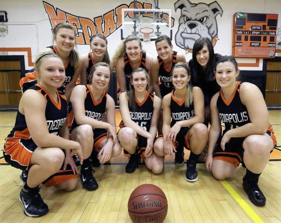 Four sets of sisters have guided the Mediapolis (Iowa) squad to a 20-1 record this season. Photo: Seth Perlman