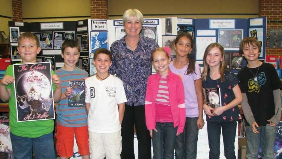 A guest author visited Birnham Woods Elementary for a writing workshop.