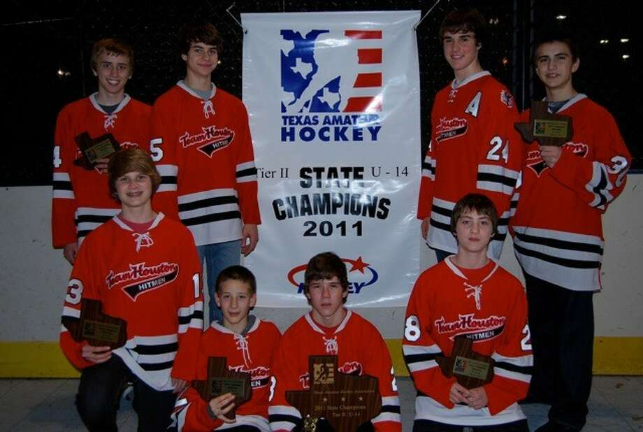 Eight boys from The Woodlands helped Team Houston of the Hitmen Junior Hockey Association capture the state championship last weekend in Dallas. They advanced to the USA Hockey National Championships in Buffalo, N.Y., as the representative from Texas.